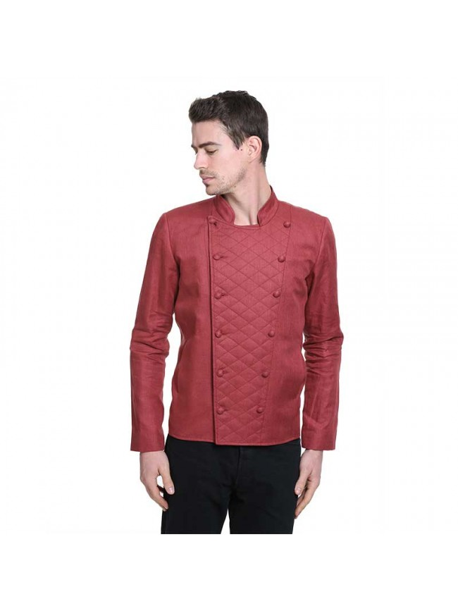 ÉTHOPÉE red linen  Jacket