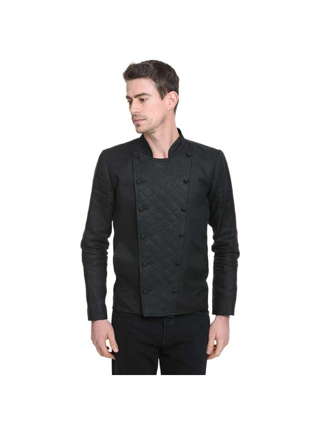 ÉTHOPÉE  black linen Jacket