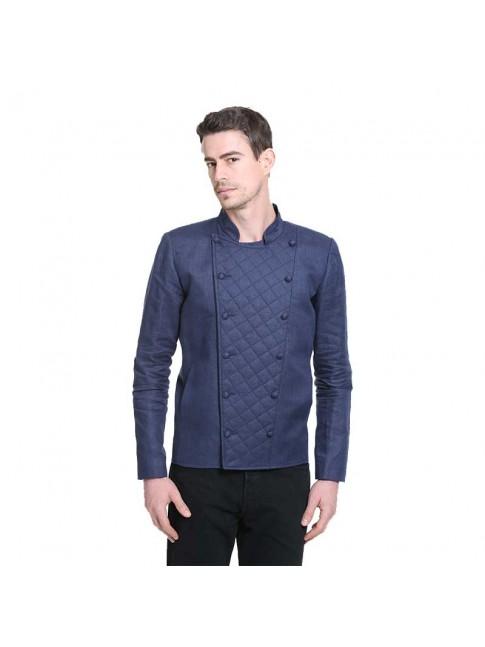 ÉTHOPÉE blue linen Jacket