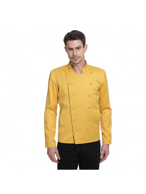 ÉTHOPÉE yellow cotton Jacket
