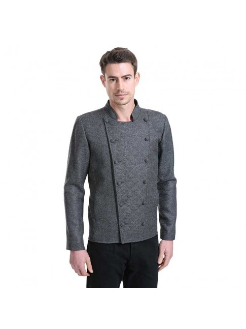 ÉTHOPÉE dark grey wool Jacket