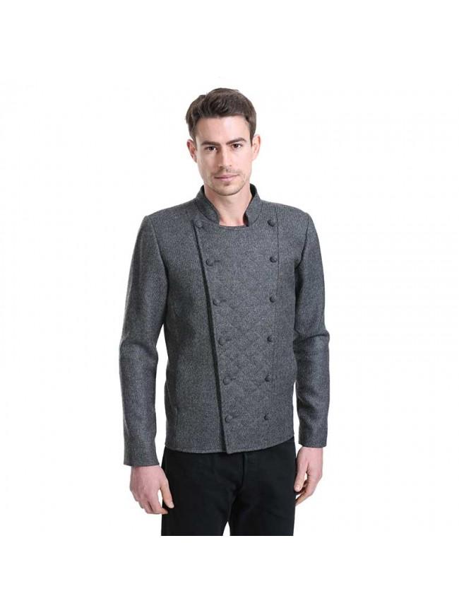ÉTHOPÉE dark grey wool Jacket