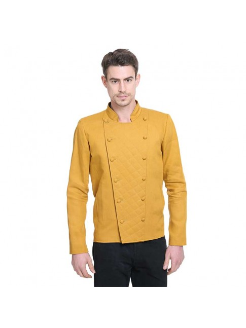 ÉTHOPÉE  mustard color linen Jacket
