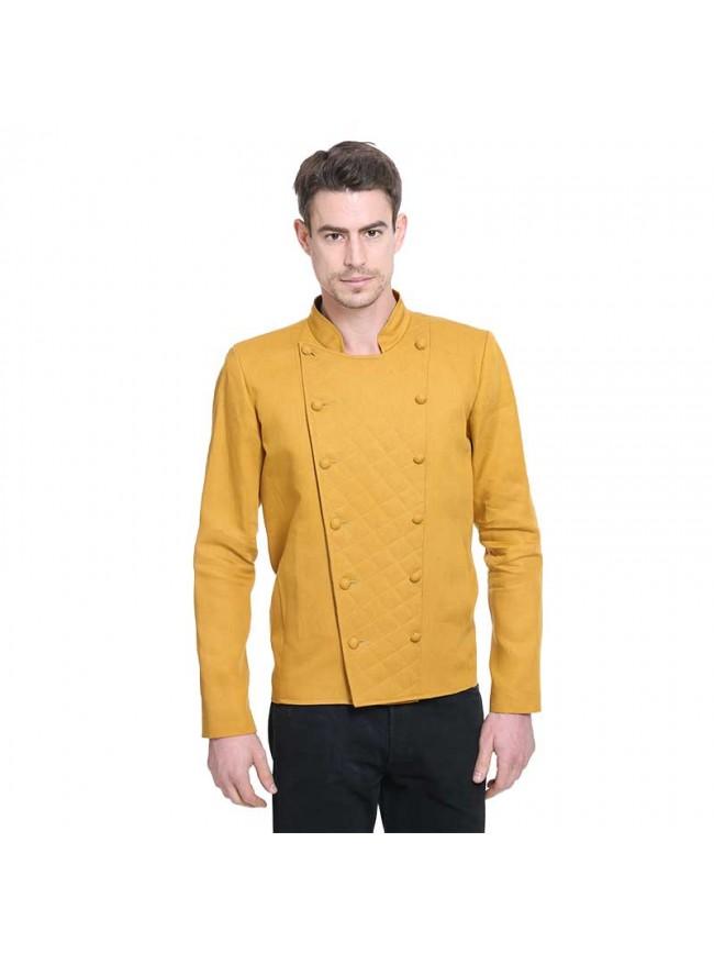 ÉTHOPÉE  mustard color linen Jacket
